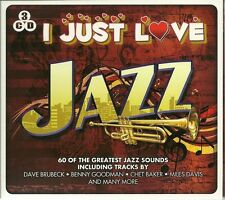 I JUST LOVE JAZZ - 3 CD BOX SET - DAVE BRUBECK * CHET BAKER & MORE NEW SEALED