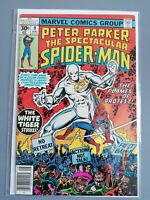 PETER PARKER - THE SPECTACULAR SPIDER-MAN #9 1977 - Marvel Comic WHITE TIGER