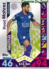 395 Riyad MAHREZ ALGERIA LEICESTER CITY.FC SKILL CARDS PREMIER LEAGUE 2017 TOPPS