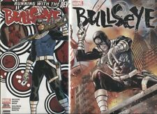 BULLSEYE #1 / COVER A 1ST PRINT & B CONNECTING COVER SET / NM