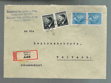 1943 Brno Bohemia Germany Elder of the Jews Ghetto Cover to Teltsch
