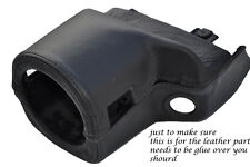 BLACK STITCHING FITS MG MGF MGTF 95-05 STEERING WHEEL SHROUD LEATHER COVER