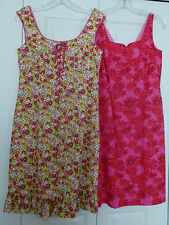 ONE BID GETS BOTH! SPENSER JEREMY COTTON SHORT DRESS FULLY LINED GREAT COND.