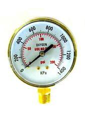 """3 INCH, Oxygen Regulator Gauge, Low Pressure, 1/4""""-18NPT"""