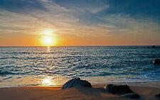 Stampa incorniciata-mozzafiato BEACH & Ocean View al tramonto (PICTURE POSTER SCENIC ART)