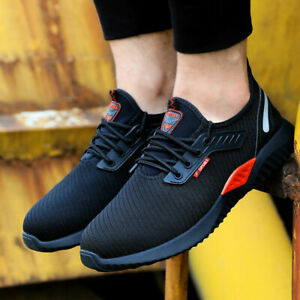 UK Safety Work Boots Trainers For Mens Shoes Composite Toe Outdoor Sneakers Mesh