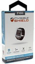 NEW Zagg Invisible Shield HD for Galaxy Gear 2 Live Smart Watch Screen Protector