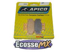 Suzuki RMX250 1989-1998 pastillas de freno trasero API 100 Apico/Gold Fren