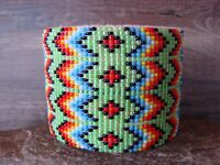 Navajo Indian Jewelry Hand Beaded Bracelet by Jacklyn Cleveland