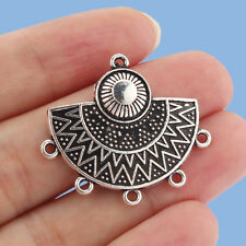 Free Ship 108pcs tibetan silver round flower earring connectors 29x23mm #4630