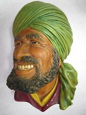 Vintage Bossons England Character Wall Hanging Chalkware Head Punjabi