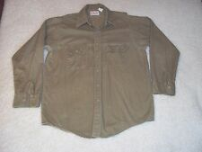 Orvis Fly Fishing Made in USA Beige Long Sleeve Shirt Size 16-L-16.5,Med/Large