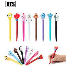 Kpop BTS BT21 Cartoon Ballpoint Pen Jungkook Tata Suga Black Ink Gel Pen Hot