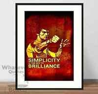 Bruce Lee - Quote Art Poster Print + Frame (UK SELLER)