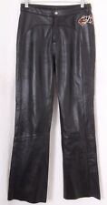 Harley Davidson Biker Motorcycle Riding Embroidered Leather Pants Women's 6