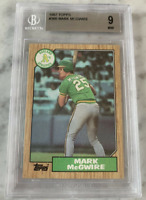 1987 Topps Mark McGwire #366 Rookie Card PSA BGS 9 MINT - Perfectly Centered!