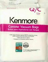 2 Pack Kenmore Q/C 53291 Style Q HEPA Vacuum Bags Cleaner for Canister Vacuums