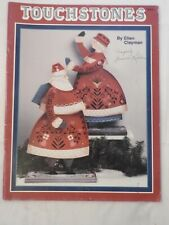 Touchstones - Ellen Clayman  folk art  tole painting pattern angels santa ++
