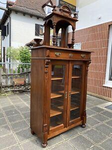 Gründerzeit Jugendstil Vertiko Anrichte Buffet Glasvitrine Kommode  um 1880