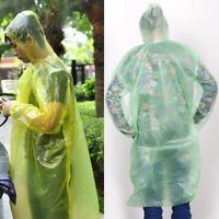 2/5/10X Disposable Emergency Waterproof Raincoat Poncho  Camping Hood 5t HL
