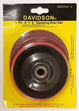 "4-1/2"" Sanding Disc Set Backing Pad Coarse Fine Discs  NEW"