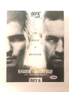 Khabib Nurmagomedov Signed Autographed 8x10 PSA/DNA McGregor UFC