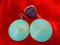 les bijoux bleus  lot ,boucles et bague
