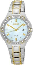 Seiko SUT282 Sut282p9 Ladies Solar Watch Swarovski Crystals