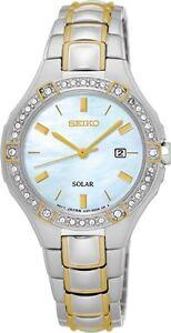 Seiko SUT282 SUT282P9 Ladies Solar Watch Swarovski crystals RRP $645.00