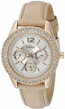 Fossil Original ES3816 Women's Stella Leather Multifunction Watch 38mm