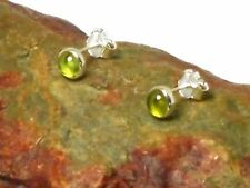 PERIDOT   Sterling  Silver  925  Gemstone  Earrings / STUDS  -  5 mm  -  Boxed