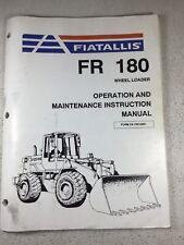 Fiat Allis Fr180 Wheel Loader Operation Amp Maintenance Manual