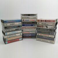 ~ Joblot / Bundle ~ Vintage ~ Audio Music Cassette Tapes ~ x 25 ~ Rock / Pop ~