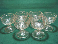 VINTAGE SET OF 6 PEDESTAL SHERBET DISHES