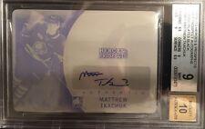 2015-16 Matthew Tkachuk ITG Heroes & Prospects BGS 9 ROOKIE AUTO PRINT PLATE 1/1