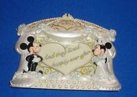 Disney Wedding Picture Frame Mickey/Minnie Mouse Happily Ever After