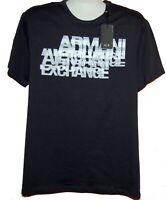 Armani Exchange Navy White Logo Design Cotton  Men's T-Shirt Size 2XL Slim Fit