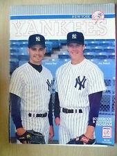 1993 New York Yankees ZIGZAG & SOUVENIR programma; Jimmy Chiave & Jim Abbott