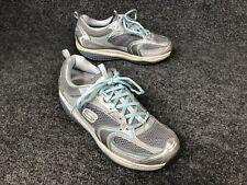 Skechers Shape-Ups Womens US Sz 8 M Metallic Silver Blue  #12320