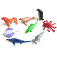 8X Marine Life Sea Animal Whale Shark Octopus Penguin Kids Dolphin Model Toys vb