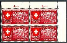 SVIZZERA - 1939 - Esposizione nazionale di Zurigo, iscrizioni in tre lingue