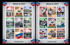 Haiti MNH 2 SS, Earthquake, Natural Disaster, Medicine Help, Red Cross