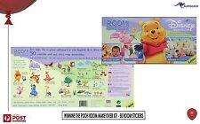 "Disney Winnie the Pooh Room Make over kit 50 stickers 8-75cm 3""-30"" Kids BNIB"