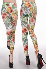 NEW Classical fashion flower floral print Sexy Leggings