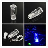 Crystal Bubble Car Manual Gear Shift Stick Lever Knob Shifter Blue LED 100MM
