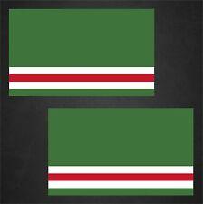 2 Chechen Republic of Ichkeria Flag Decals Stickers