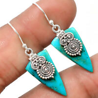 Owl - Natural Arizona Turquoise 925 Sterling Silver Earrings Jewelry SDE17944