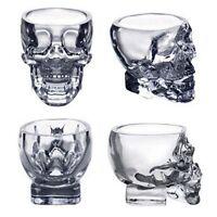 Crystal Glass Vodka Whiskey Skull Head Shot Cup Drinking Ware Home & Bar 73ml Jʌ