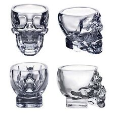 Crystal Glass Vodka Whiskey Skull Head Shot Cup Drinking Ware Home & Bar 73ml Jʌ
