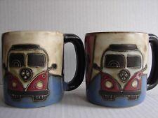 Mara Stoneware Pottery VW Volkwagen Camper Van Hippie Large coffee mugs Cups